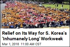 South Korea's Max Workweek Going From 68 Hours to 52