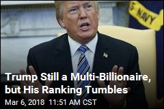 Trump Tumbles 222 Spots on Billionaires' List