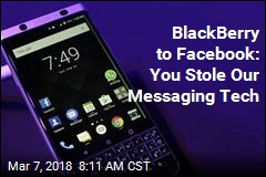 BlackBerry to Facebook: You Stole Our Messaging Tech