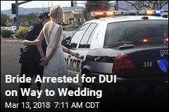 Cops: Impaired Bride Crashed on Way to Wedding