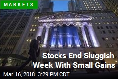 Stocks End Sluggish Week With Small Gains