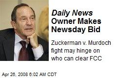 Daily News Owner Makes Newsday Bid