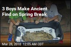 3 Boys Find Mastodon Jawbone on Family Land