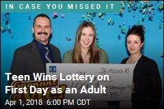 Teen Wins Lottery Jackpot on 18th Birthday