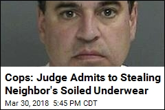 Cops: Judge Admits to Stealing Neighbor's Soiled Underwear