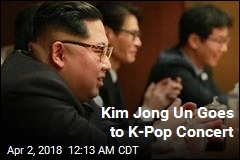 Kim Watches S. Korean Pop Stars in Pyongyang