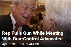 Rep Pulls Gun While Meeting With Gun-Control Advocates