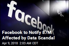 Facebook to Notify 87M Affected by Data Scandal