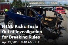 NTSB Kicks Tesla Out of Investigation for Breaking Rules