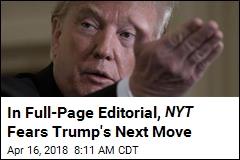 NYT Runs Full-Page Editorial Against Trump