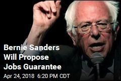 Bernie Sanders Will Propose Jobs Guarantee
