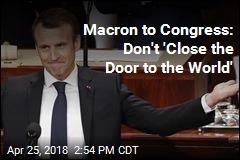 Macron Denounces Isolationism in Speech to Congress