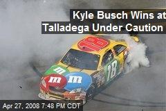 Kyle Busch Wins at Talladega Under Caution