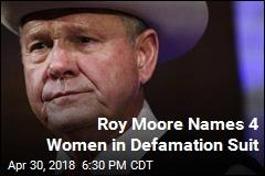 Roy Moore Names 4 Women in Defamation Suit