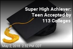 Super High Achiever: Teen Accepted by 113 Colleges
