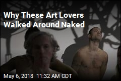 Art Gallery Visitors Take Off Their Clothes