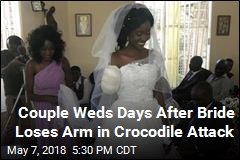 Couple Weds Days After Bride Loses Arm in Crocodile Attack