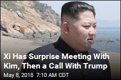 Xi Has Surprise Meeting With Kim, Then a Call With Trump