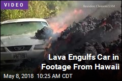Footage Shows Lava Engulf Car in Hawaii