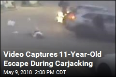 11-Year-Old Escapes in Wild Carjacking Video
