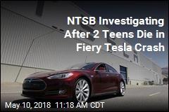 NTSB Investigating After 2 Teens Die in Fiery Tesla Crash