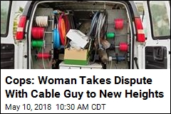 Cops: Woman Strands Cable Guy in Mid-Air