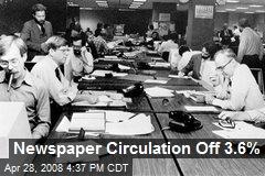 Newspaper Circulation Off 3.6%