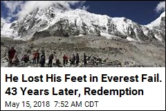 He Lost His Feet in Everest Fail. 43 Years Later, Redemption
