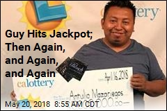 Guy Hits Jackpot; Then Again, and Again, and Again