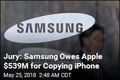 Samsung Ordered to Pay $539M for Copying iPhone