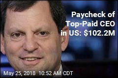 Paycheck of Top-Paid CEO in US: $102.2M