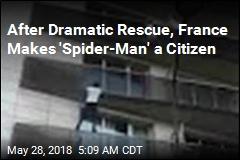'Spider-Man' Climbs 4 Storeys to Save Boy