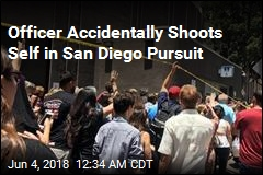 Officer Accidentally Shoots Self in San Diego Pursuit