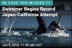 Swimmer Begins Record Japan-California Attempt