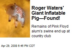 Roger Waters' Giant Inflatable Pig—Found!