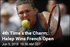 4th Time's the Charm: Halep Wins French Open