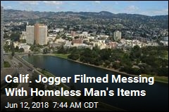 Calif. Jogger Filmed Messing With Homeless Man's Items