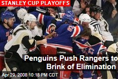 Penguins Push Rangers to Brink of Elimination