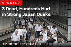3 Dead, 90 Hurt in Osaka Earthquake