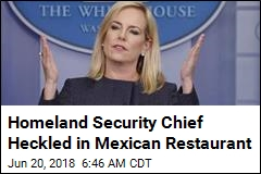 Angry Protesters Interrupt DHS Chief's Mexican Meal
