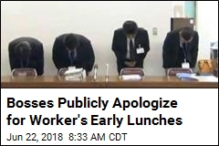 Japanese Worker Fined for Starting Lunch 3 Minutes Early