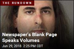 Newspaper's Blank Page Speaks Volumes