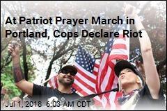 At Patriot Prayer March in Portland, Cops Declare Riot