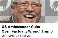US Ambassador Quits Over 'Factually Wrong' Trump