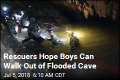 Rescuers Hope Boys Can Walk Out of Flooded Cave