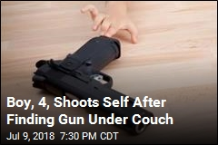 Boy, 4, Shoots Self After Finding Gun Under Couch