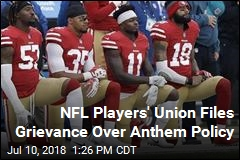 NFL Players' Union Files Grievance Over Anthem Policy