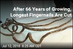 After 66 Years of Growing, Longest Fingernails Are Cut