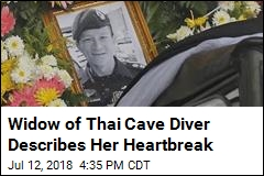 Widow of Thai Cave Rescue Diver Mourns Him Online
