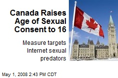 Canada Raises Age of Sexual Consent to 16